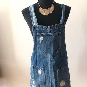 Cute overall Jean dress!